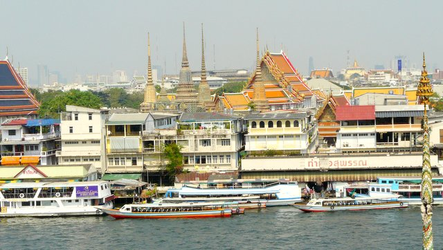 The old CIty from Wat Arun