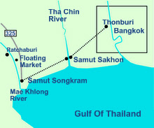 Mae Khlong Mahachai Railway Map