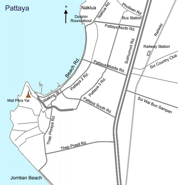 Pattaya and Jomtien Beach